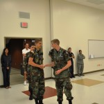 Cadet Joshua Block is promoted to Cadet Chief Master Sergeant